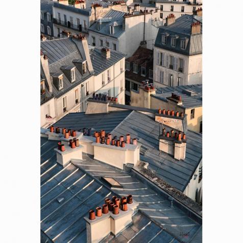 """""""Párizsi tetők"""" vintage táska"""