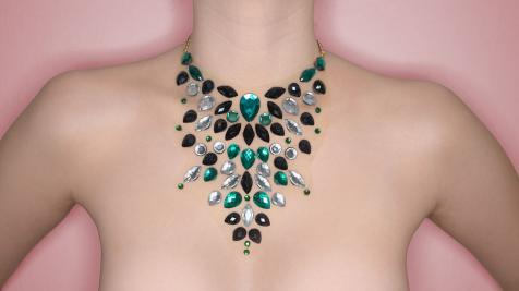 Green Emerald nyaklánc